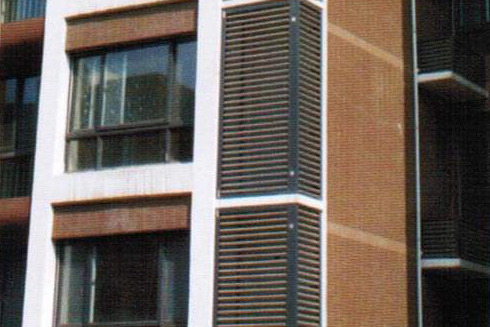 银川小区空调百叶格栅窗批发